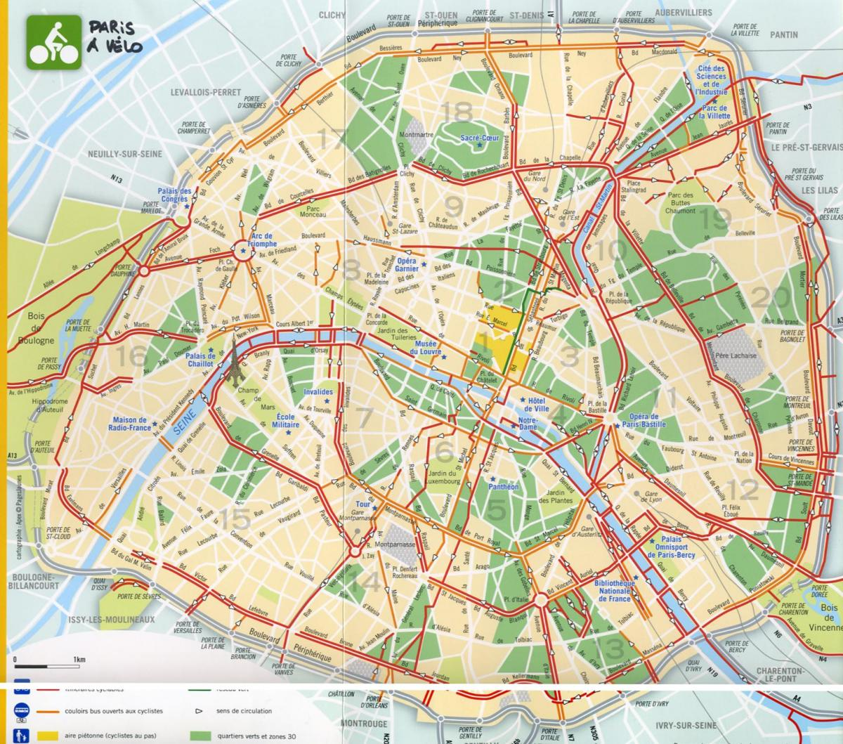 La carte de Paris