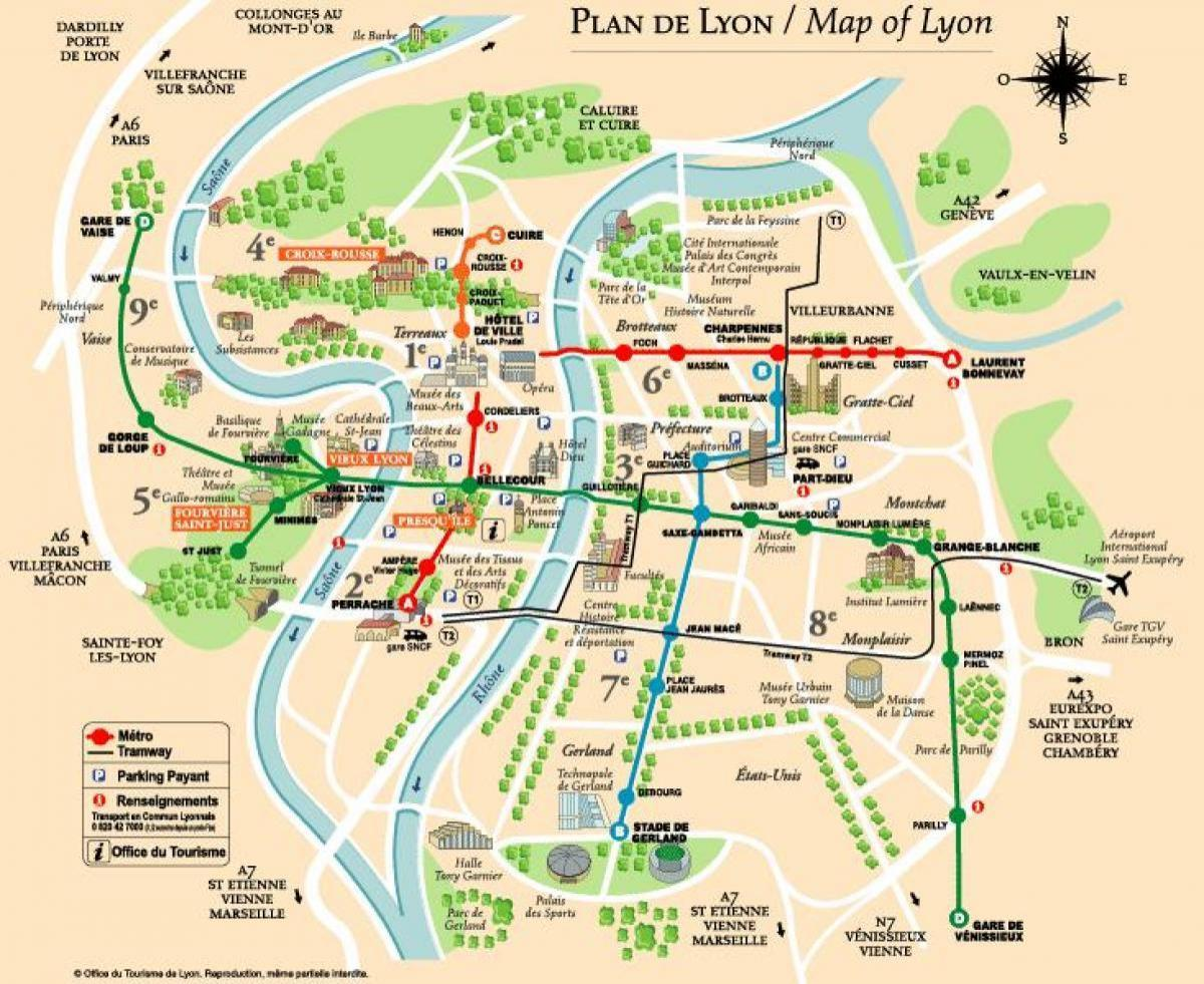 Carte de lyon Paris