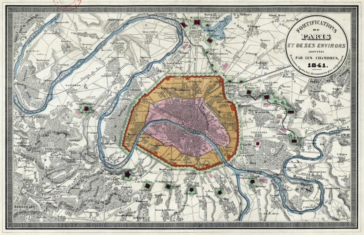 Carte de Paris mur