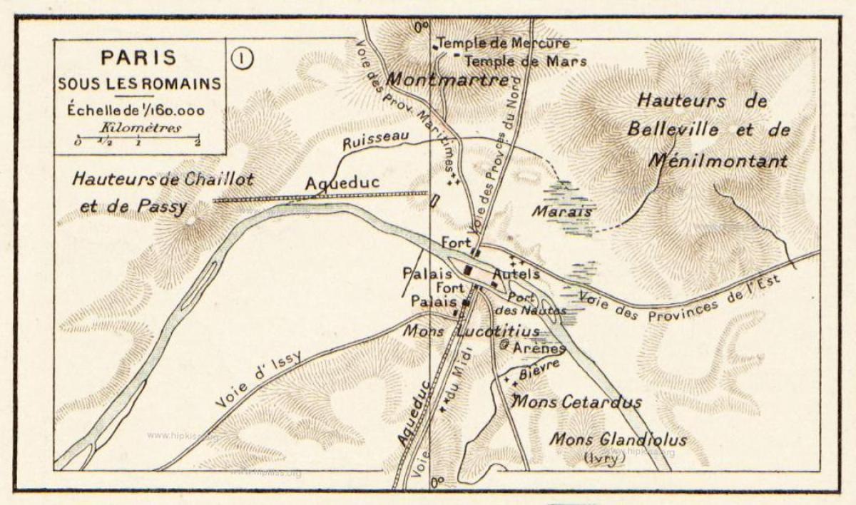 La carte de romain Paris
