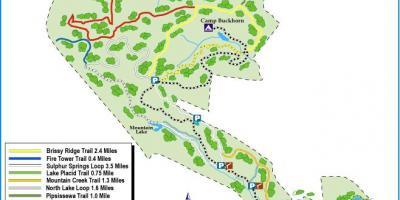 Montagne de Paris parc d'état de la carte - carte de Paris mountain state park (Île-de-France ...